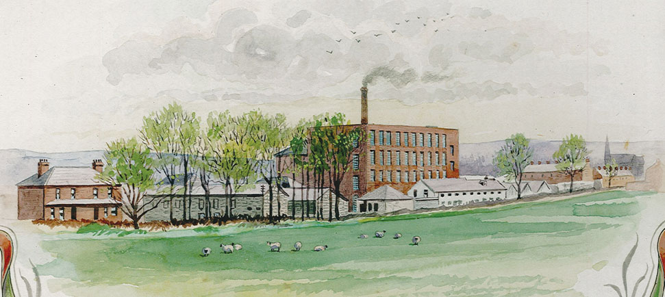 Doagh spinning mill in its heyday (Courtesy: Annette McKee)