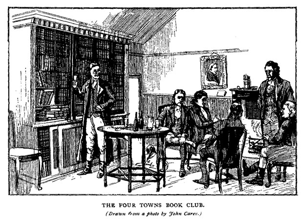 Illustration of the Four Towns Book Club, from Ulster Journal of Archaeology, vol. VIII (1902), p. 119