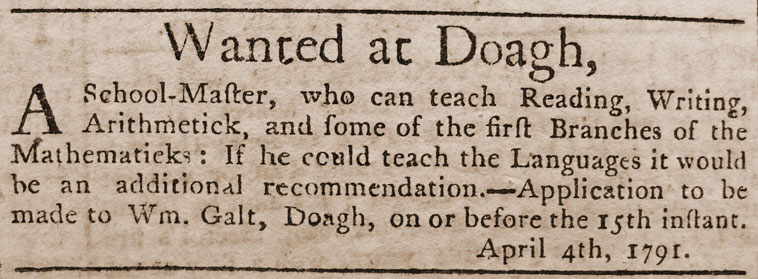 Belfast Newsletter, 1–5 April 1791