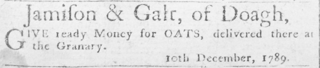 Galt December 1789