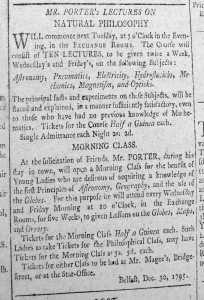 An advert which appeared in the Northern Star.